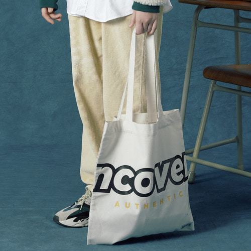 앤커버 NCOVER Signature logo eco bag-ivory 에코백 아이보리