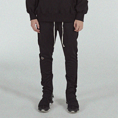 [BLEDITION_블레디션] SIDE ZIPPER TRACK PANTS BLACK