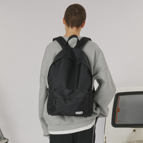로너 Rubber logo backpack_black