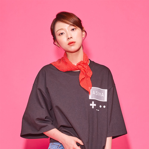 [AsiHa_아시하] 19 S/S Retro 8bit gamepack T-Shirts Black