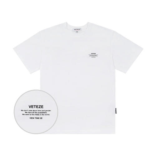 VETEZE 베테제 Basic Half T-Shirts (White)