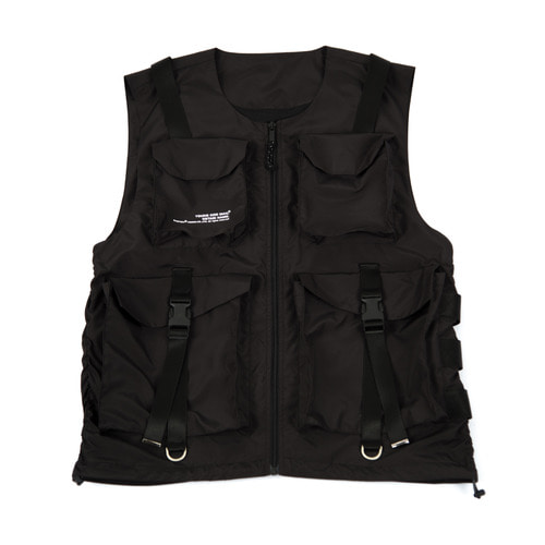 [요몬_YOMON] PVC TECH VEST-BLACK