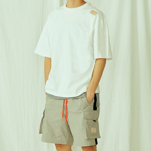 [BLEDITION_블레디션] POCKET TRACK SHORT PANTS GRAY