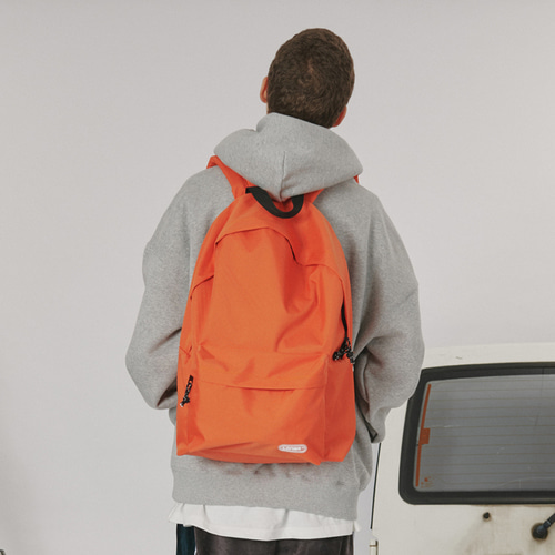 로너 Rubber logo backpack_orange