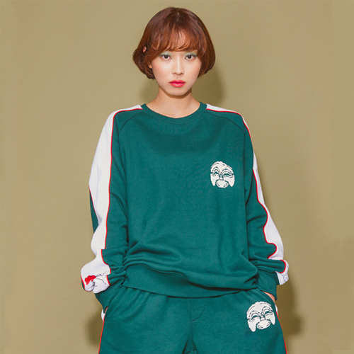 [AsiHa_아시하] 19 S/S Korea Newtro 1/2 Pants Green